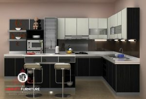 model kitchen set dan island minimalis modern