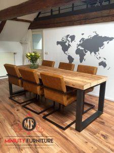 model meja kerja metting top blok kayu jati terbaru
