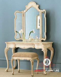 model meja rias classic antique duco putih