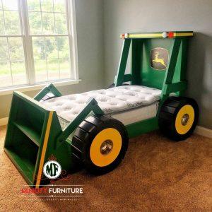 model tempat tidur anak mobil traktor