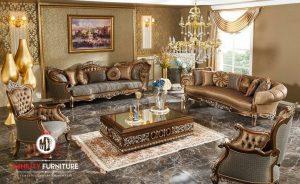 set sofa ruang tamu ukiran mewah elegant terbaru