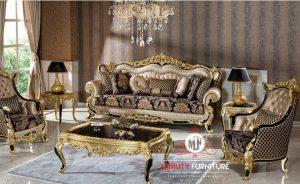 sofa living room ukir mewah elegant model terbaru