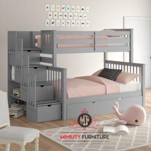 tempat tidur anak tingkat minimalis modern