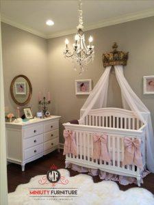 tempat tidur bayi minimalis modern putih