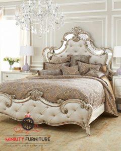 tempat tidur ukiran klasik mewah italian style