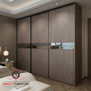 wardrobe minimalis modern pintu sliding