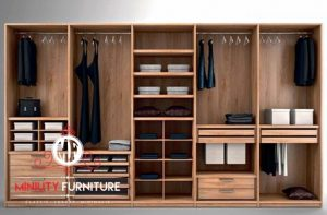 lemari pakaian minimalis modern tanpa pintu terbaru
