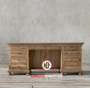 meja kantor 1 biro kayu jati terbaru