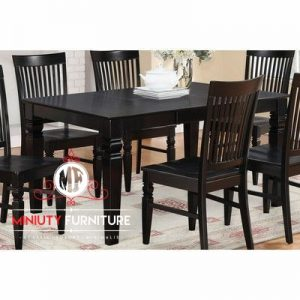 meja makan minimalis 6 chairs kayu jati