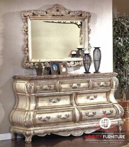 model bufet dan cermin gantung classic luxury eropa