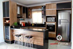 model kitchen set dan minibar minimalis modern