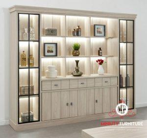 cabinet rak kaca mewah modern model terbaru