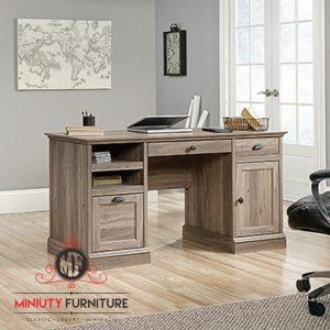 meja kerja kantor laci kayu jati