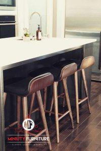 stool kursi cafe kayu modern jok busa