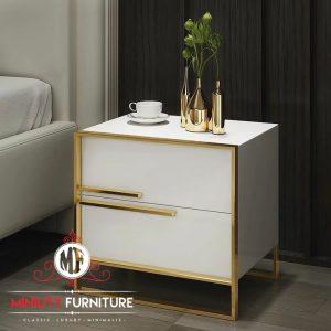 bed side table duco putih minimalis modern