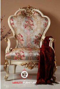 kursi engkel ruang keluarga putih modern