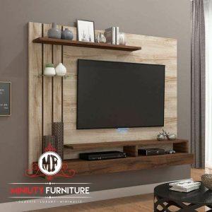 partisi tv gantung minimalis modern HPL