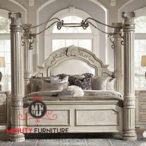 tempat tidur model kelambu master bed room