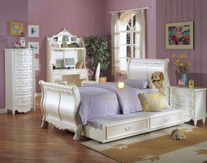 Tempat Tidur Anak Putih Duco Klasik Ukiran Jepara