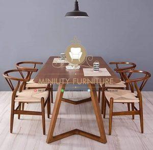 set meja makan kayu jati terbaru