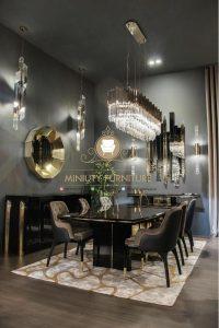set meja makan mewah modern terbaru