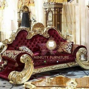 sofa mewah ukiran jati gold model terbaru