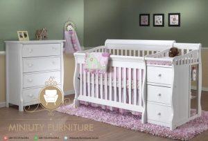 tempat tidur bayi minimalis duco putih