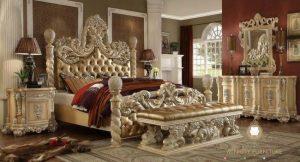 set kamar tidur ukir mewah italia style