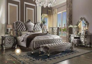 set ranjang tempat tidur mewah ukiran model eropa
