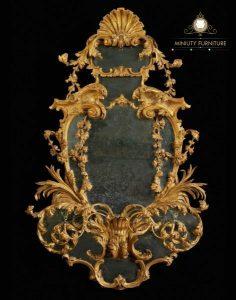 cermin hias dinding ukir mewah arabian