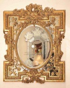 cermin hias dinding ukiran mewah