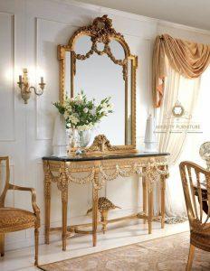 cermin hias ukir mewah klasik turki