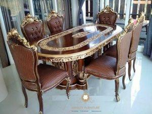 furniture mebel set meja makan ukir ganesa jepara