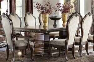 furniture set meja makan klasik modern romawi