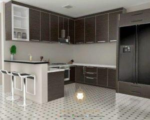 interior furniture kitchen set hpl model minimalis