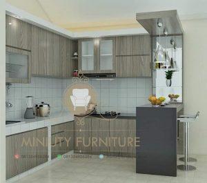 interior kitchen set mini bar minimalis modern