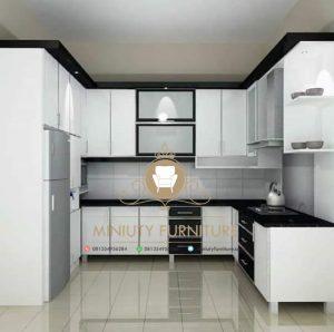 interior kitchen set minimalis warna putih