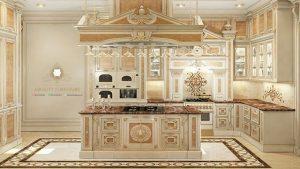 kitchen set mewah modern italia