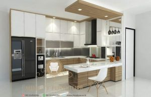 kitchen set model minimalis multiplek terbaru