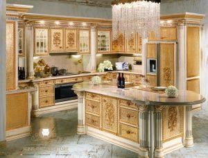 kitchen set ukir mewah luxury eropa