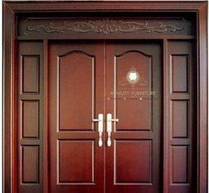 pintu rumah minimalis model kupu tarung kayu jati perhutani