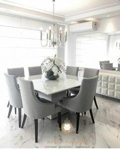 set meja makan keluarga minimalis modern