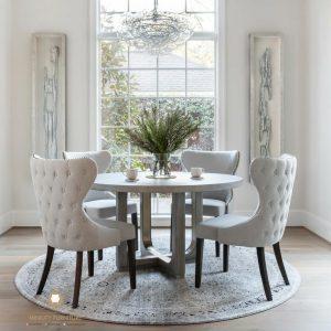 set meja makan kursi 4 terbaru