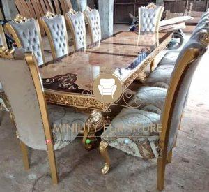 set meja makan panjang model terbaru