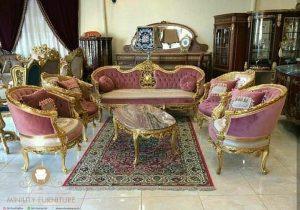 set sofa ruang tamu klasik mewah african style