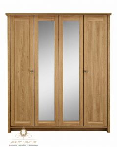 almari pakaian pintu 4 minimalis modern