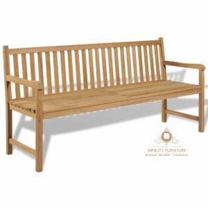 bangku kebun, bangku taman minimalis kayu jati terbaru