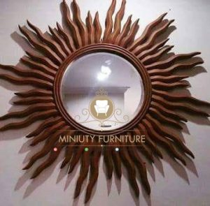 cermin hias dinding model matahari