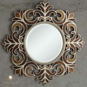 cermin hias dinding motif ukir