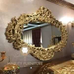 cermin hias dinding ukir jepara